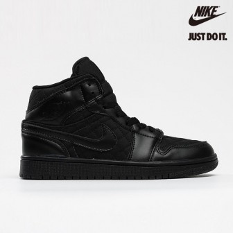 Air Jordan 1 Mid SE 'Black Quilted'