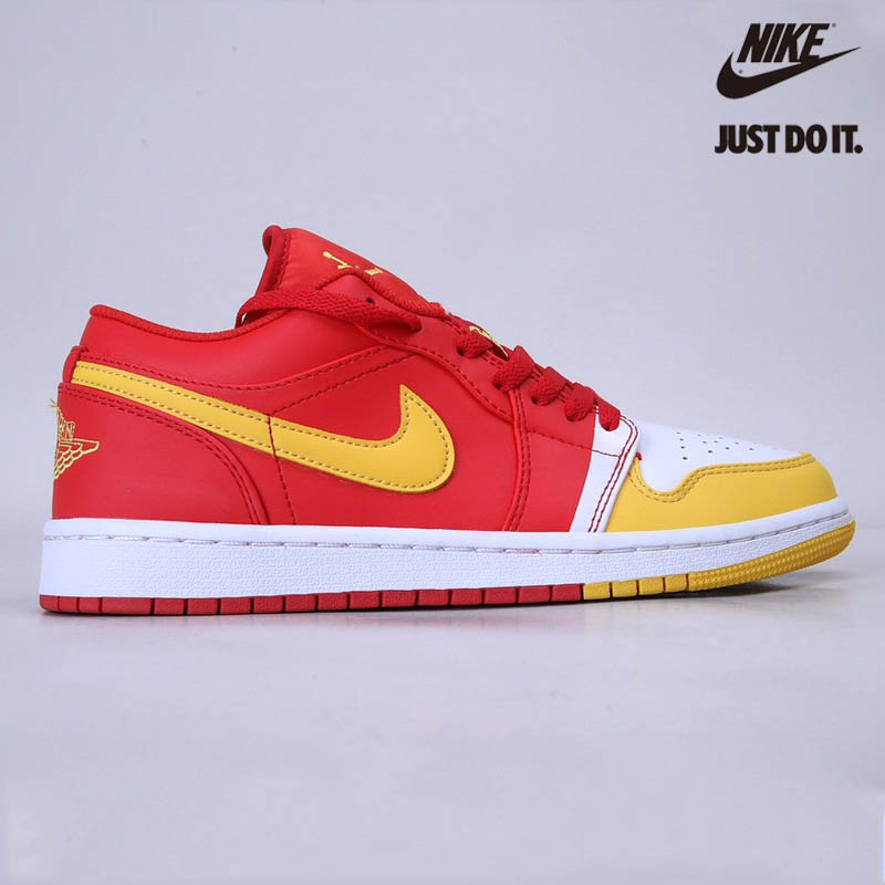 Nike Air Jordan 1 low red and yellow toes