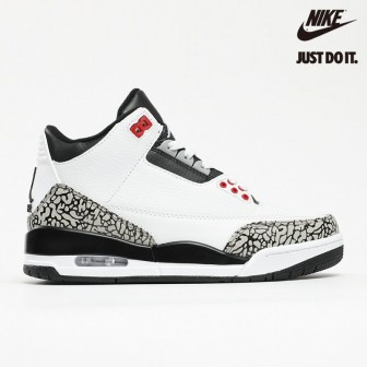 Air Jordan 3 Retro 'Infrared 23' White Black Cement Red