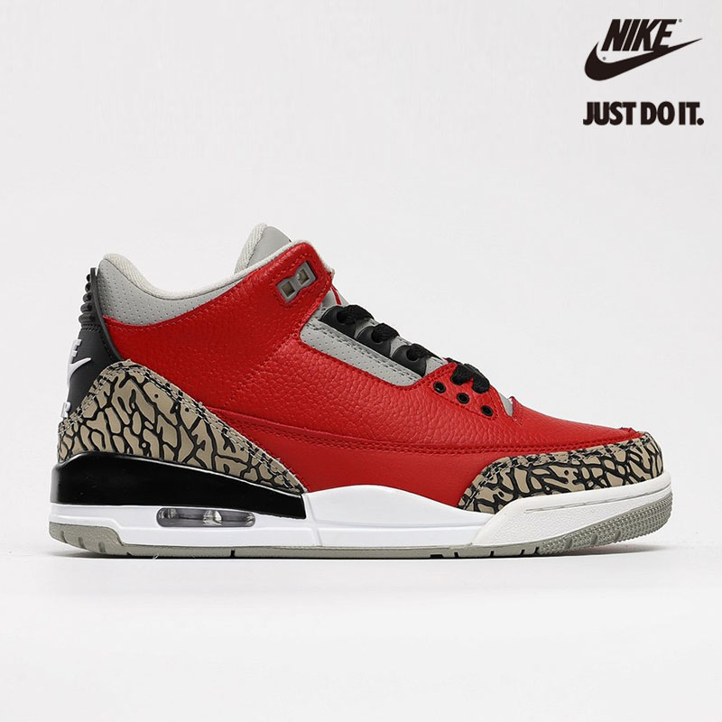 Nike Air Jordan 3 Retro SE 'Unite' Red Cement Chicago All Star Fire Grey Black - CK5692-600
