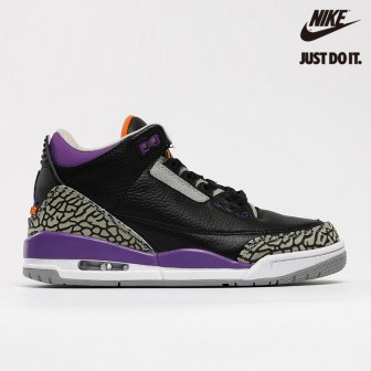 Air Jordan 3 Retro Court Purple Black Cement Grey White 'Court Purple'