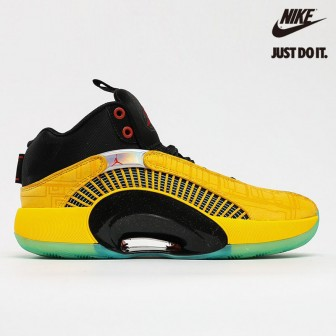 Air Jordan 35 'Dynasties' Yellow Green Black