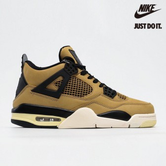 Air Jordan 4 Retro 'Mushroom' Black Fossil Pale Ivory