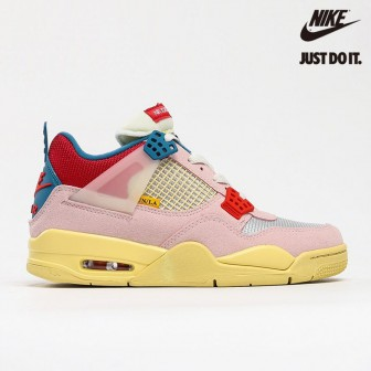 Union LA x Air Jordan 4 Retro 'Guava Ice' Light Bone Brigade Blue