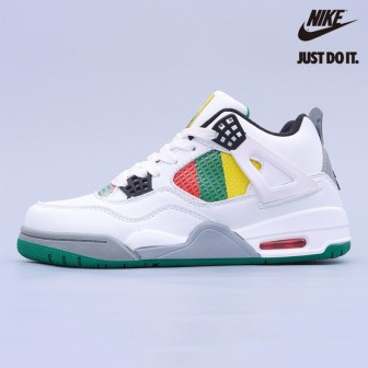 Air Jordan 4 RED GREEN YELLOW