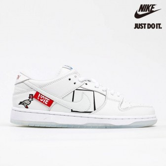 Nike SB Dunk Low Pro White Ice Blue University Red 'VOTE'