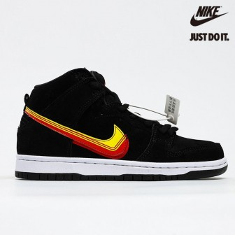 Nike SB Dunk High Truck It Black University Gold Team Orange