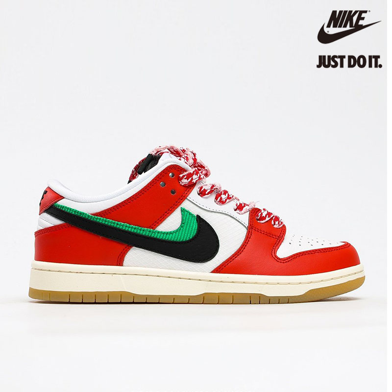 Frame Skate x Nike SB Dunk Low .Habibi. Chile Red/White-Lucky Green-Black - CT2550-600