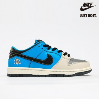 Instant Skateboards x Nike Dunk Low Pro SB QS Blue Pale Ivory Black