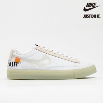 OFF WHITE x Virgil Abloh x Nike SB Blazer Zoom Low White Grey Orange