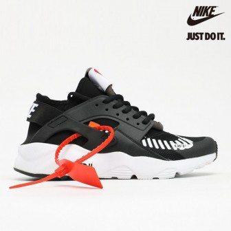 OFF White x Nike Air Huarache Ultra Black White Orange