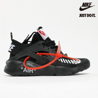 OFF White x Nike Air Huarache Ultra Black White