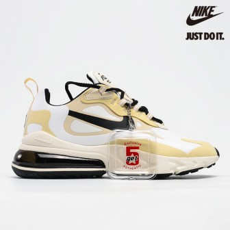 Nike Air Max 270 React White Gold Black