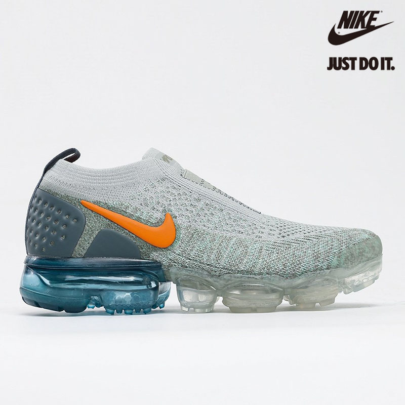 Nike Air VaporMax Moc 2 Light Silver Campfire Orange Celestial Teal - AJ6599-005